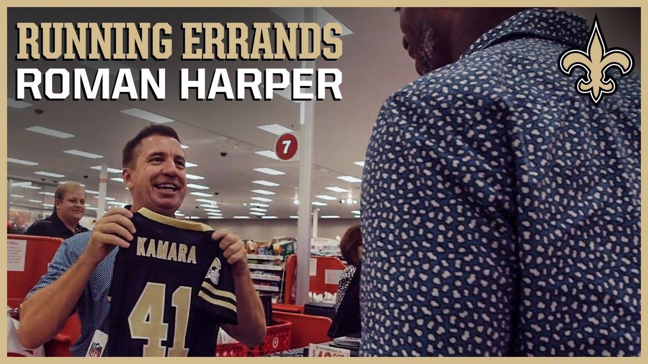 Roman Harper on Alvin Kamara's Jersey # Origin | Running Errands with Saints Legends | Ep. 3