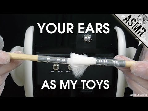 Your Ears Are My Toys - 3D Binaural ASMR (No Talking)