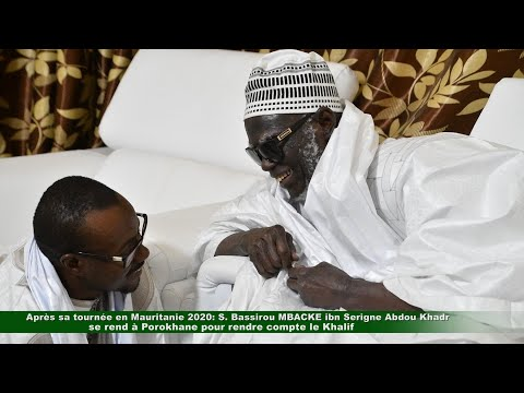 Tournée en Mauritanie: Serigne Bassirou MBACKE rend compte au Khalife