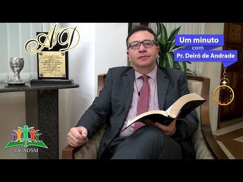 Um Minuto com o Pr. Deiró de Andrade - Tema:O Espírito Santo revela a utilidade e capacita.