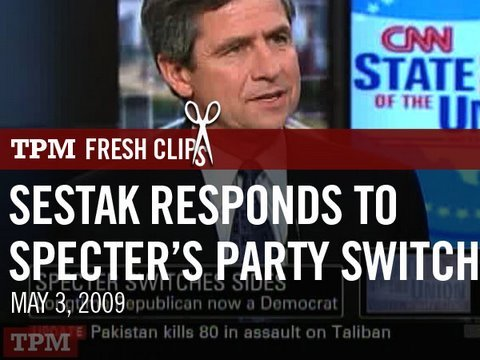 Rep. Sestak (D-PA) Responds to Specter's Party Switch