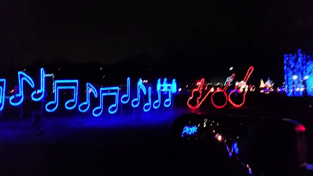 Jelly Stone Christmas Lights Nashville 2014 - YouTube