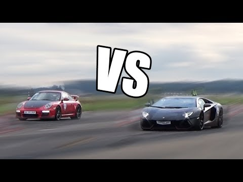 1000HP Porsche 9ff GT3 vs Lamborghini Aventador LP700-4 – RACE!