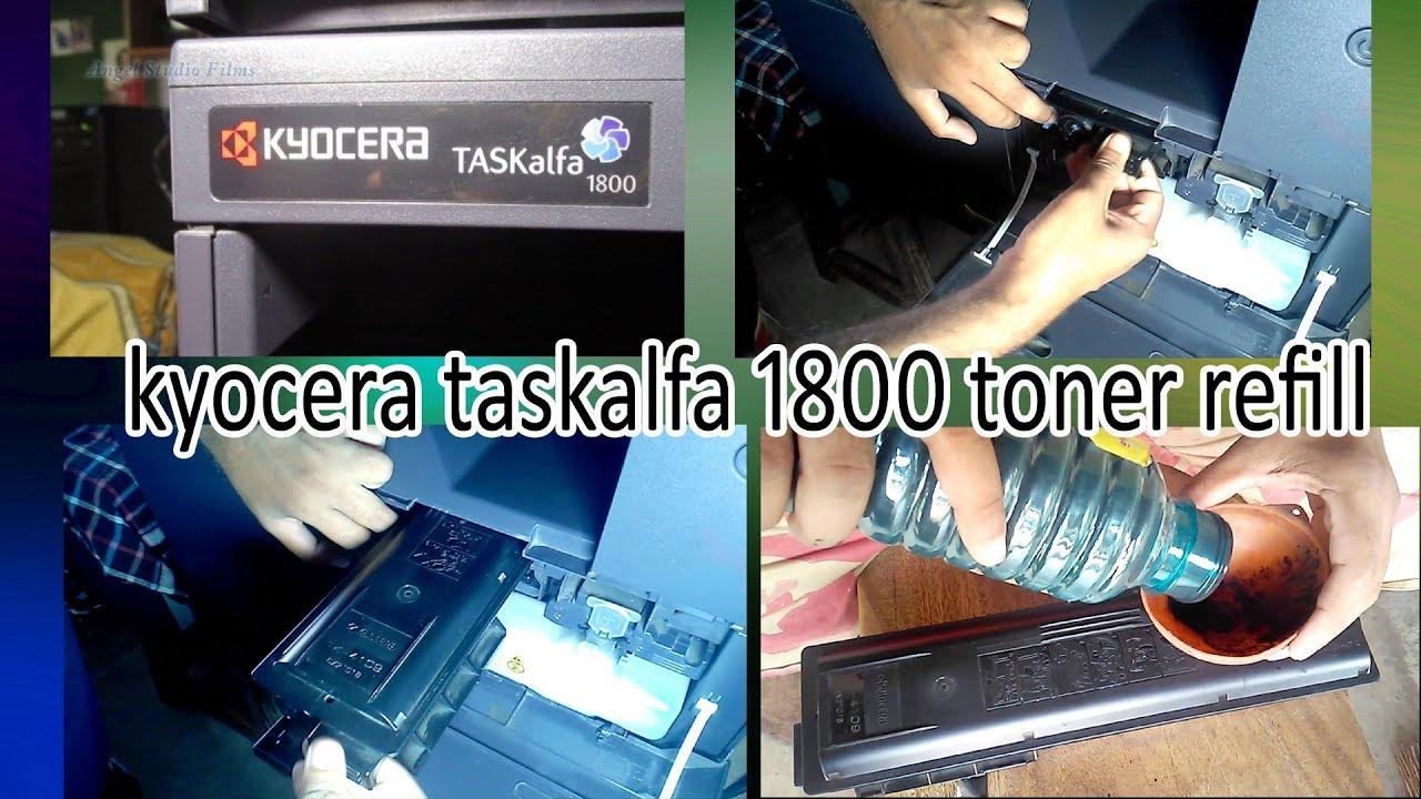 how to refill Kyocera Taskalfa 1800 toner cartridge (For 1800 /  1801/2200/2201 )