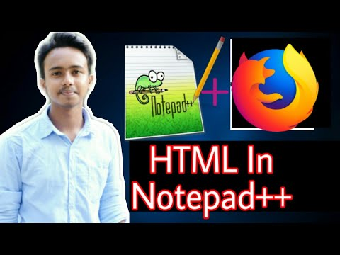 Notepad++ Html Code Runnig||Html In Notepad++||How To Run Html Code In Notepad++