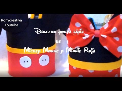 Dulceros De Minnie Mickey Mouse Manualidades Faciles Disney