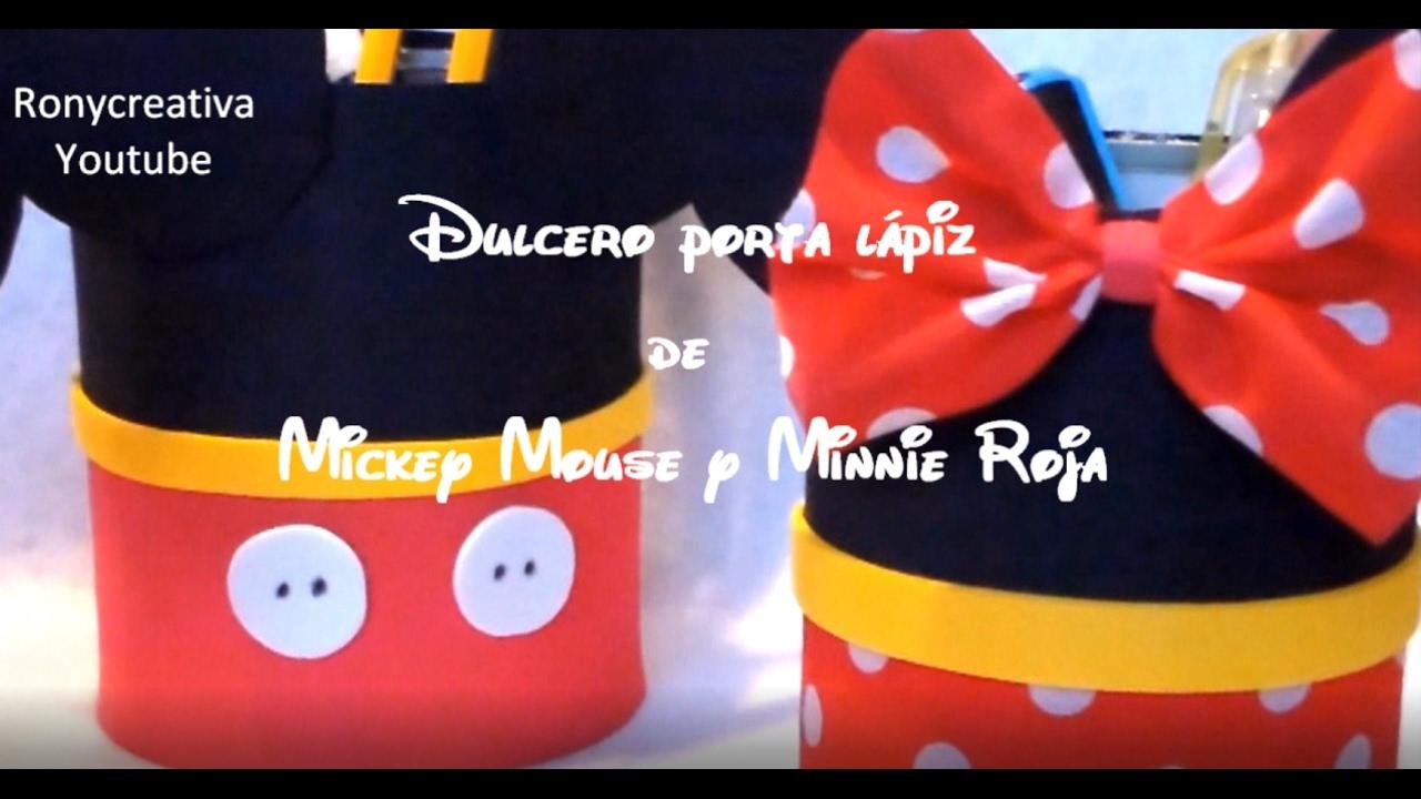 Dulceros de minnie mickey mouse manualidades f ciles - Manualidades minnie mouse ...