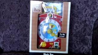 FISHER PRICE MUSIC BOX TEACHING CLOCK