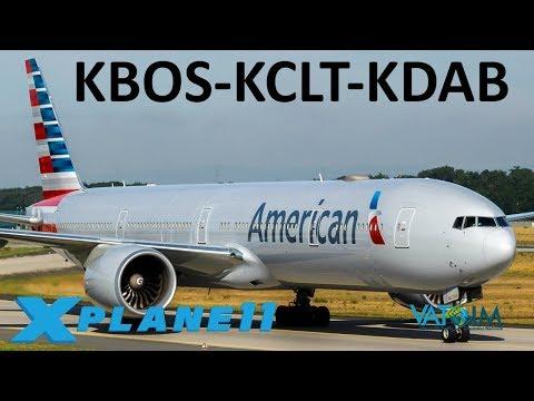 X-Plane 11   19K Sub Celebration & BSS 777 Sounds!?   B777   VATSIM   Boston, Charlotte & Daytona!!
