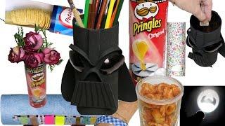 10 trucos y manualidades con un bote de Pringles. Pringles life hacks