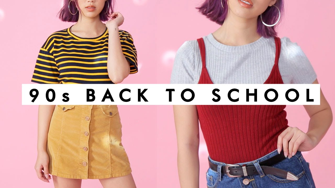 c69ea06405cb 90's COZY Back to School Outfits! - YouTube