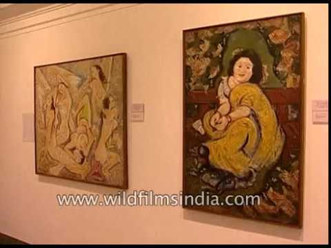 Abanindranath Tagore, K  N  Majumdar and Nandalal Bose's paintings at  National Gallery of Modern Art