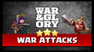 War & Glory Attacks #15 (7 Golem, Shattered LaLoon, Queen Walk GoHo, GoVaLo, Surgical Hogs)