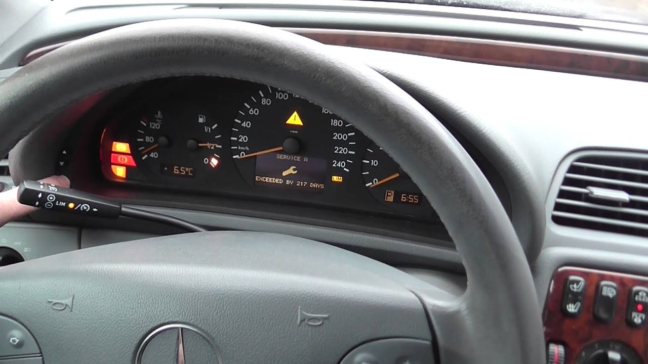 Mercedes Benz Clk Service Interval Indicator Reset Hd