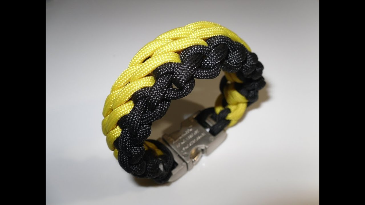 paracord armband flechten zweifarbig anleitung in deutsch auch als blog youtube. Black Bedroom Furniture Sets. Home Design Ideas
