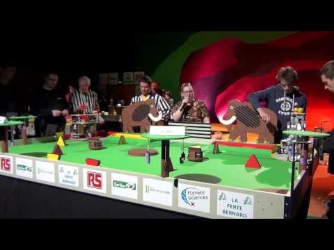2014 - PM-ROBOTIX vs ERACL1 - Match n°1, C'est pas gagné...  - Coupe de France de Robotique 2014