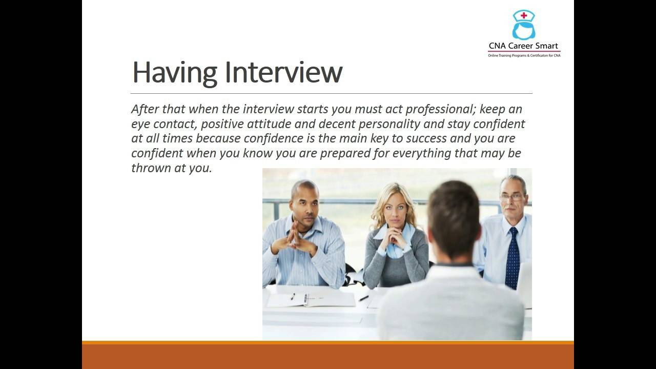 tips on how to nail you cna job interview youtube