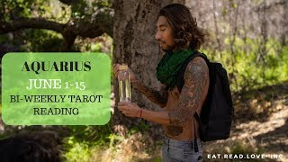 """AQUARIUS - """"SO MANY CHALLENGES, CAN WE OVERCOME THIS?"""" JUNE 1-15 BI-WEEKLY TAROT READING"""