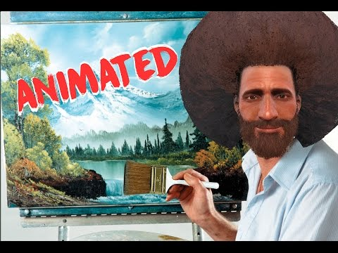 Bob Ross Remixed | Happy Little Clouds | Animated in Fallout 4