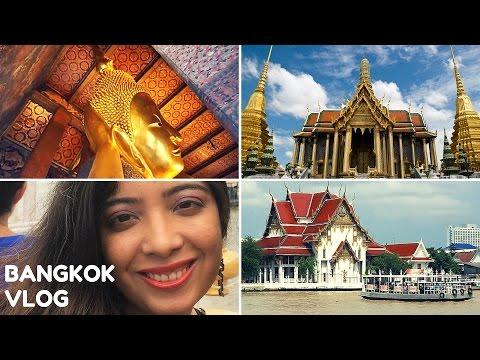 Bangkok Thailand Travel Vlog #3 Chao Phraya River Boat + Buddhist Temples: Wat Pho & Wat Phra Kaew