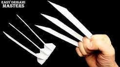 How to make Wolverine claws out of paper  Origami claws