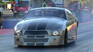 BK RACE ENGINES TWIN TURBO V8 MUSTANG 6.19 @ 236 MPH SYDNEY DRAGWAY 16.5.2015