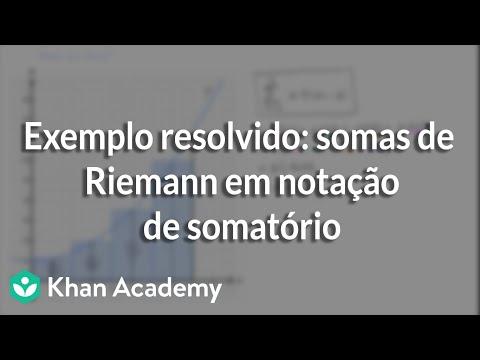 Exemplo resolvido: somas de Riemann em notação de somatório