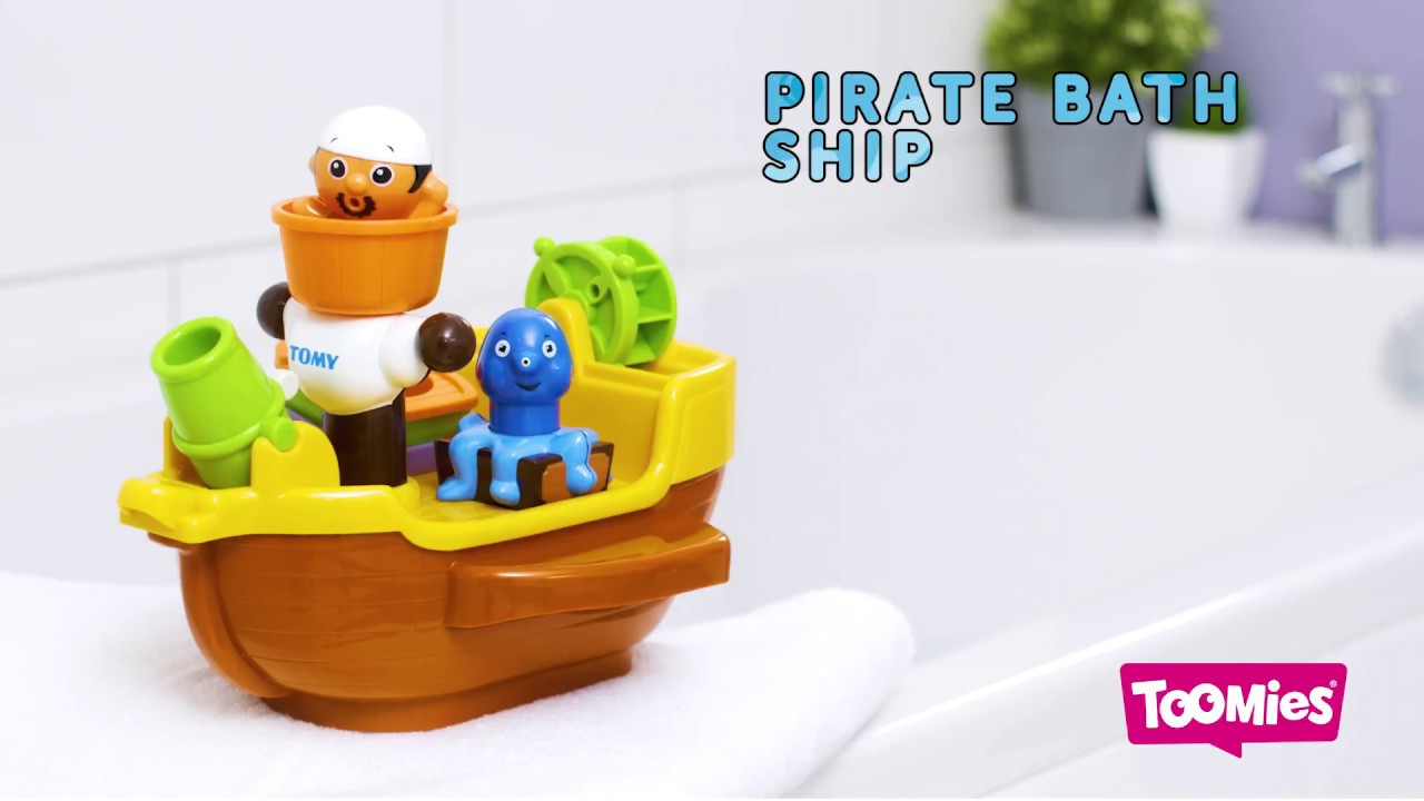 Toomies Pirate Ship Bath Toy - YouTube