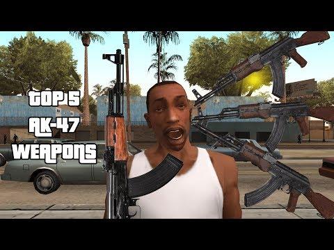 GTA San Andreas Top 5 AK 47 Weapon Variant Mods!