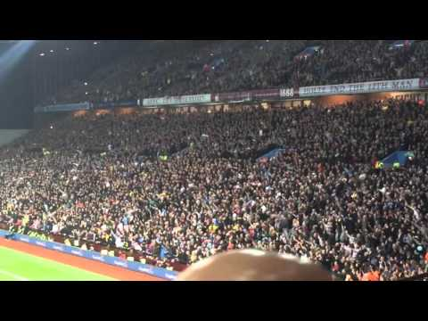 The Holte End / Villa fans Singing Aston Villa Vs Birmingham City