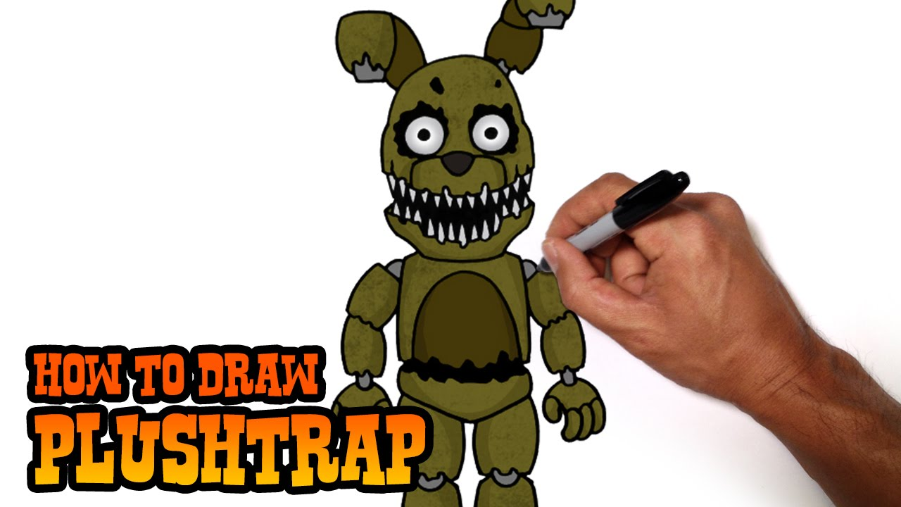 How To Draw Plushtrap Five Nights At Freddys Youtube