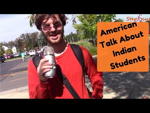 Masters in USA, american talk about indian students