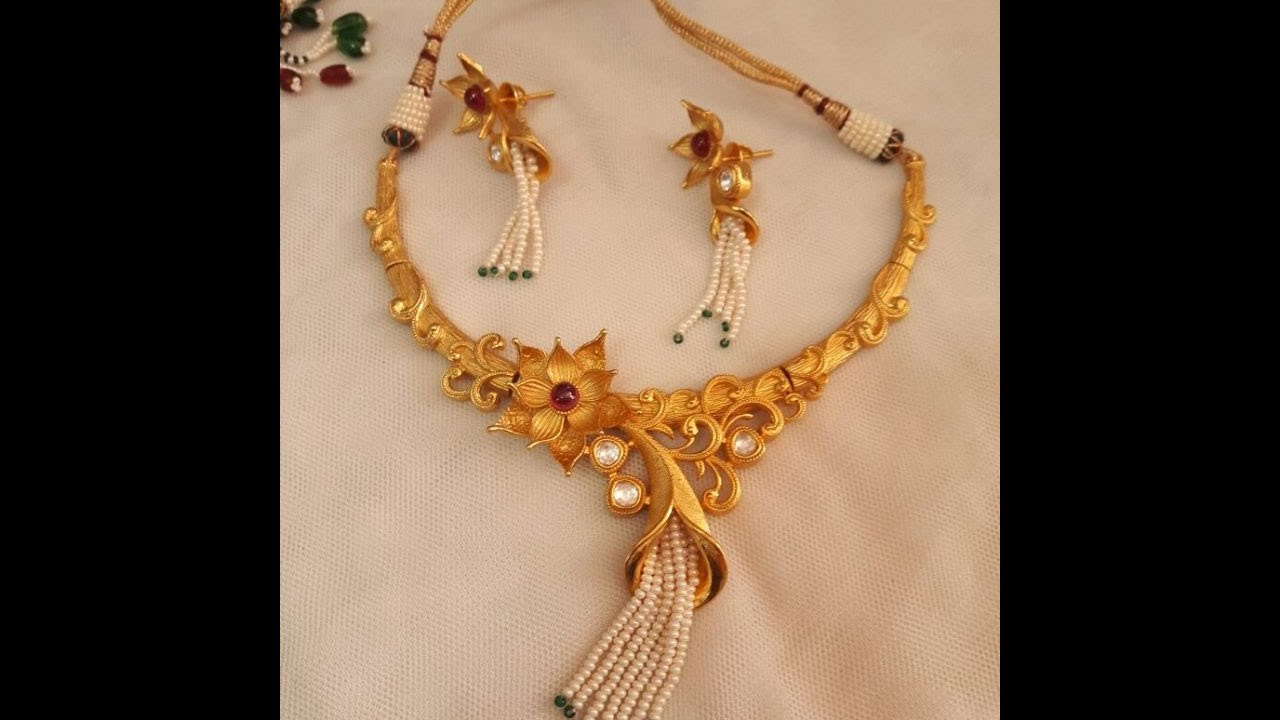 81069e462be ANTIQUE GOLD JEWELLERY COLLECTION || Light Weight Gold Jewellery  Collections by TRENdy GOSSip