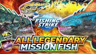 【釣魚大亨 Fishing Strike】 All Legendary Mission fishes Spino, Euoplocetus, SHonisikans 传说中的怪物鱼