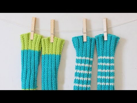 Knit Adorable Baby Legwarmers - DIY  - Guidecentral