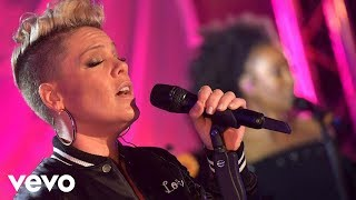 P nk What About Us in the Live lounge