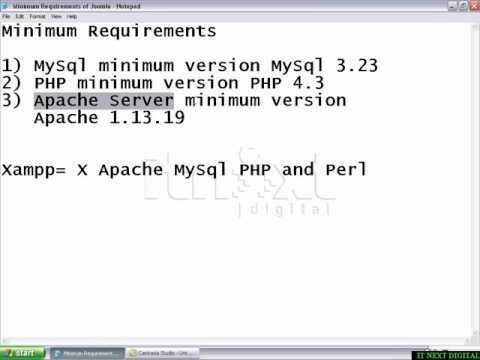 1 4 Minimum Requirements of Joomla