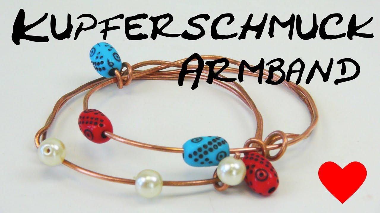 kupferschmuck armband mit perlen gestalten schmuck selber machen copper jewelry making tutorials. Black Bedroom Furniture Sets. Home Design Ideas