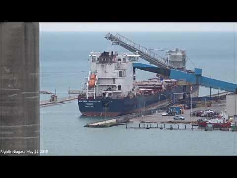 Ship ALGOMA INNOVATOR Loading At The Goderich Salt Mine