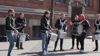 Шоу уличных барабанщиков, Санкт-Петербург, 1 апреля 2017 года