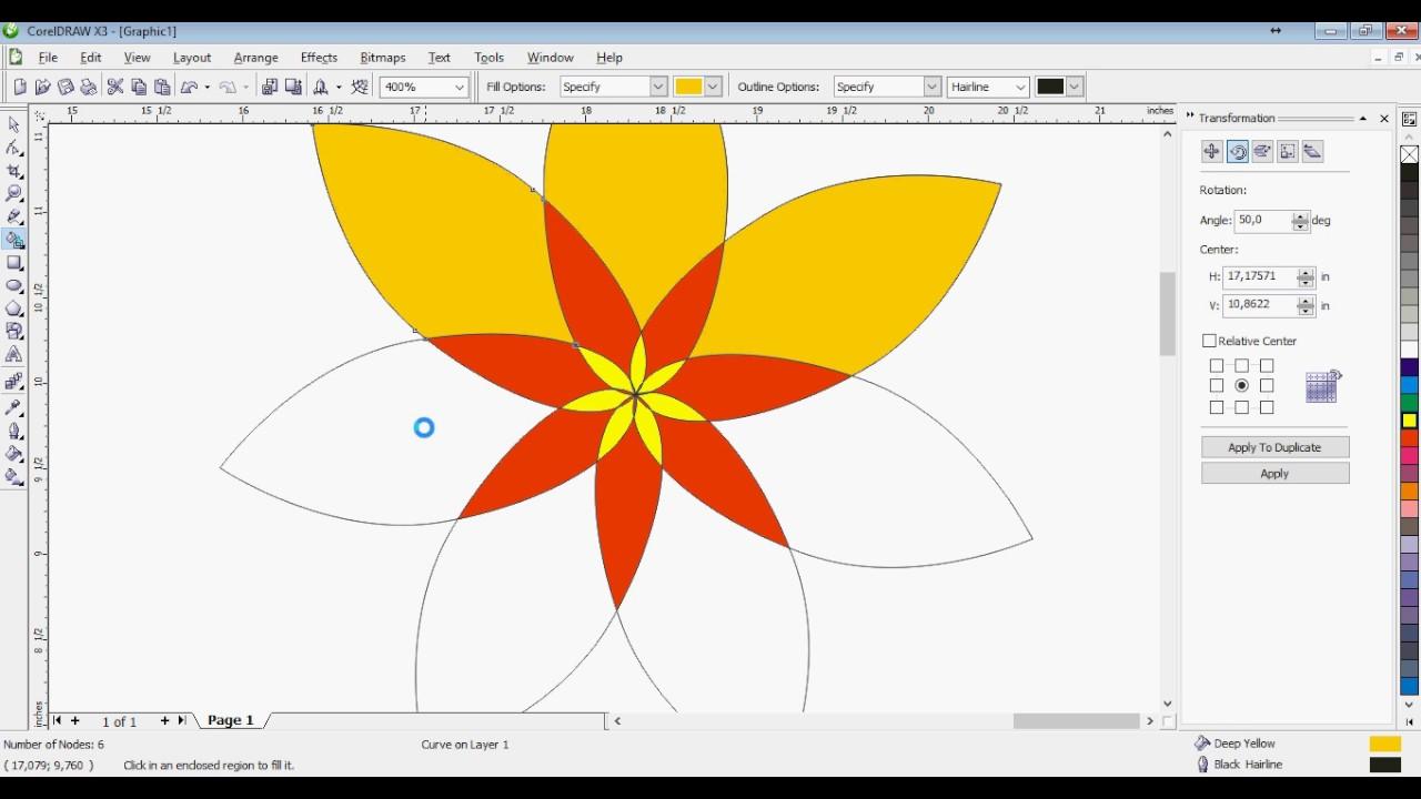 Cara Gampang Mewarnai Shape di Corel Draw Dengan Smart Fill Color