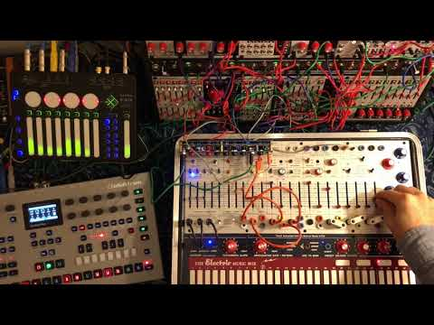 Elektron Analog Four MKII w/ Buchla Music Easel and Verbos Electronics System