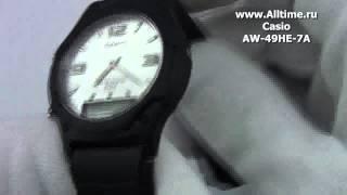 мужские японские наручные часы casio aw 49he 7a