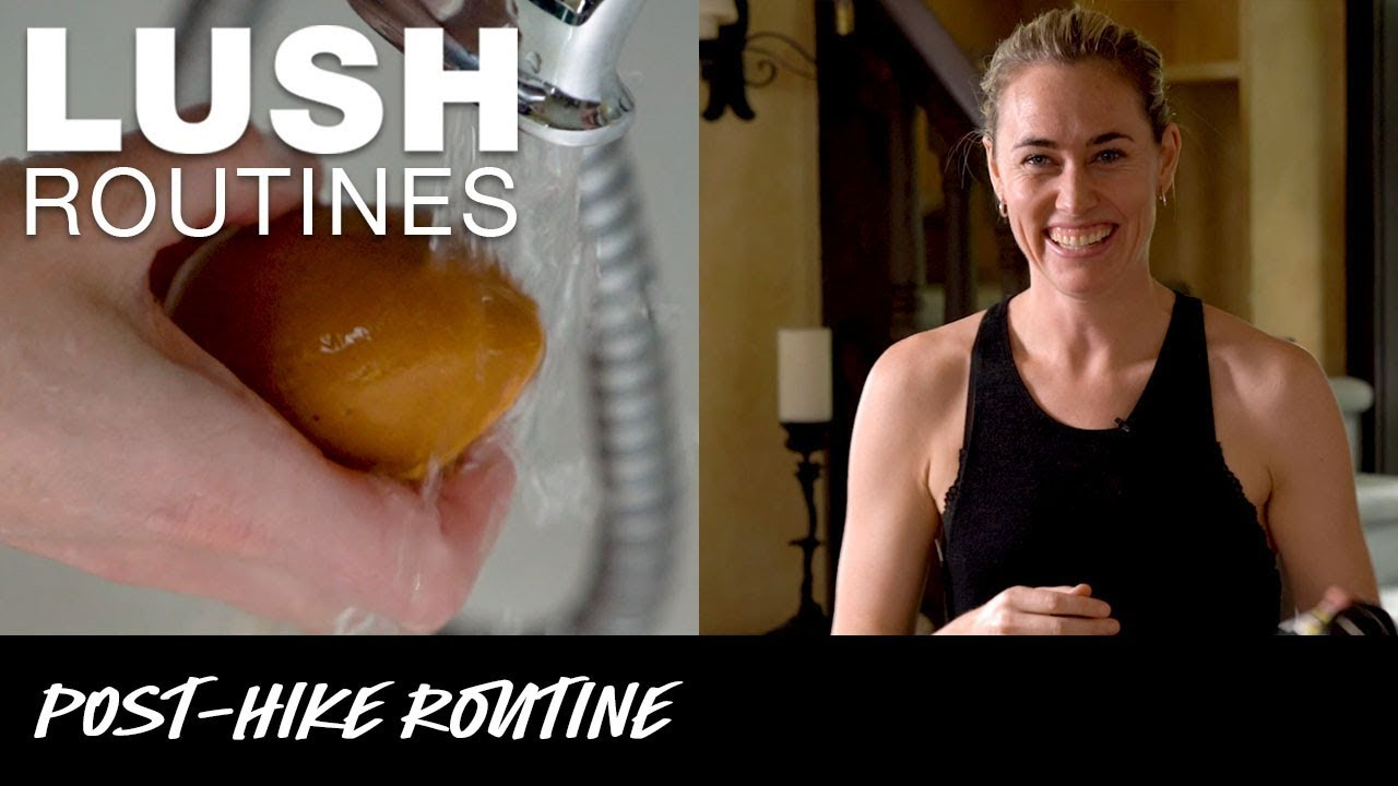 Lush Routines: Post-hike Footcare