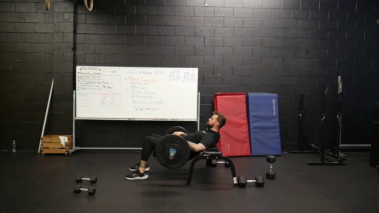 How to perform: Barbell hip thrust