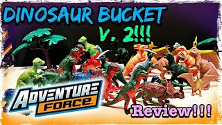 "Walmarts ""Adventure Force"" Dinosaur Bucket V. 2 Review!!!"