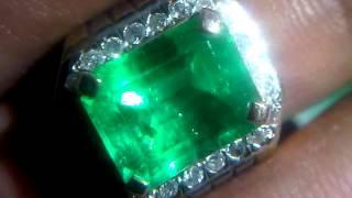 Natural Emerald Beryl, Columbia Gold n Diamond
