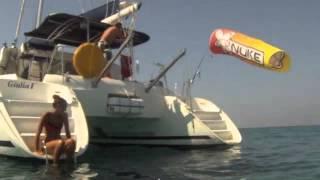 Kite trip on Catamaran Lagoon 380