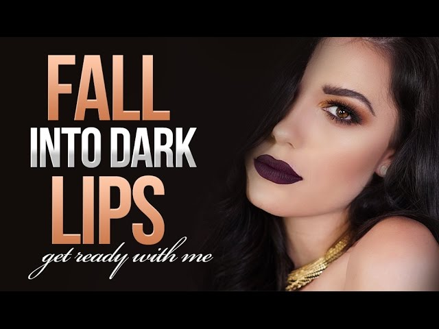 ❤️ Fall Into Dark Lips Chatty GRWM Makeup Tutorial | Victoria Lyn Beauty
