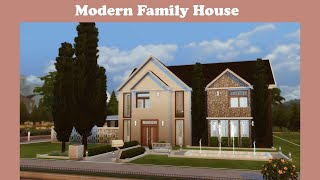 Modern Family House | The Sims 4 Speed Build | No CC | Base Game Only